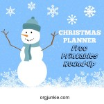 Christmas Planner Free Printables Round-Up
