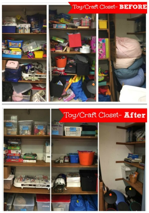 Toy Closet Before and After