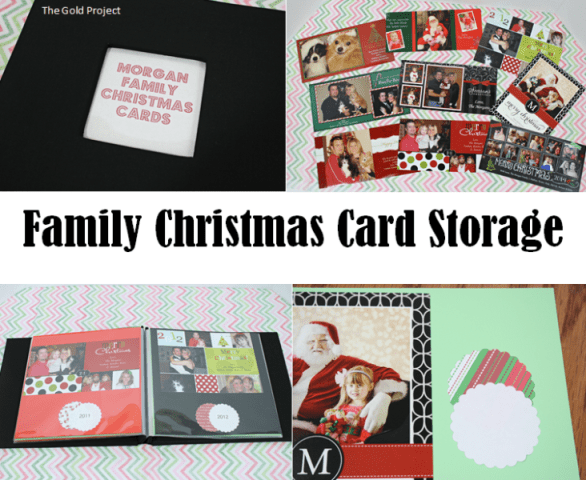 family christmas card storage at orgjunkie.com