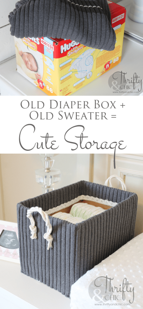 Cute Diaper Box Storage