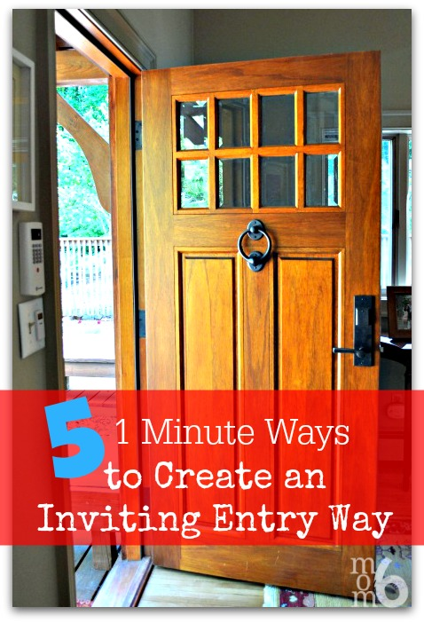 5 1-Minute Ways to Create an Inviting Entryway at I'm an Organizing Junkie blog