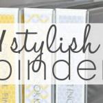 DIY Stylish Binders