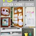 15 Ways to Get Organized with Kitchen Cabinet Doors