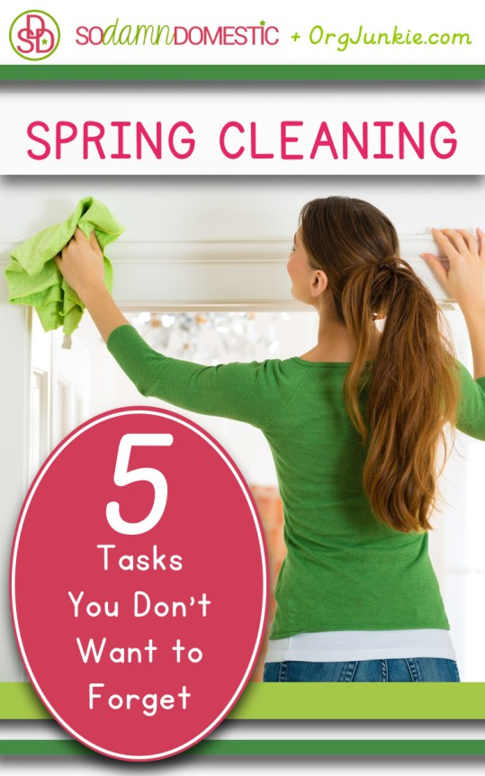 5 Spring  Cleaning Tasks You Don't Want to Forget at I'm an Organizing Junkie blog