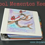 DIY School Mementos Keeper