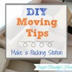 DIY Moving Tips: Make a Packing Station