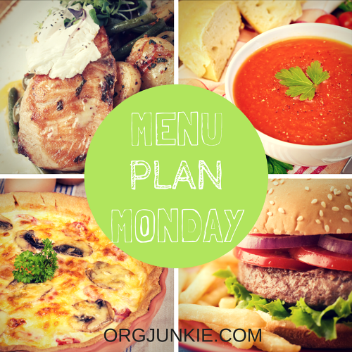 Menu Plan Monday for the week of Aug 31/15. Recipe links and menu planning inspiration!!