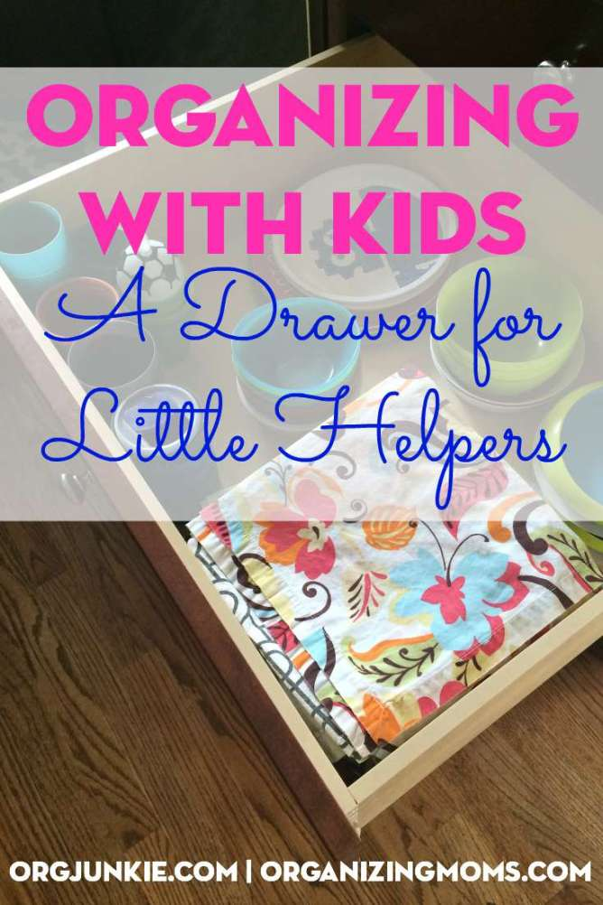Set your kids up for organizing success by creating a drawer for little helpers
