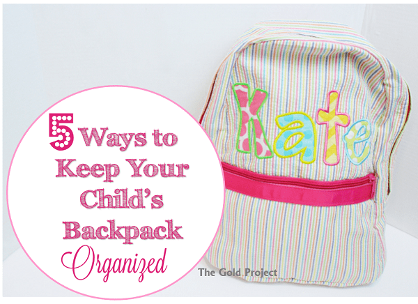 Kids going back to school?  Here are some ways to help keep their backpack organized!