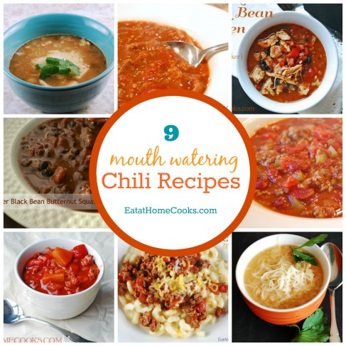 9 Mouth Watering Chili Recipes