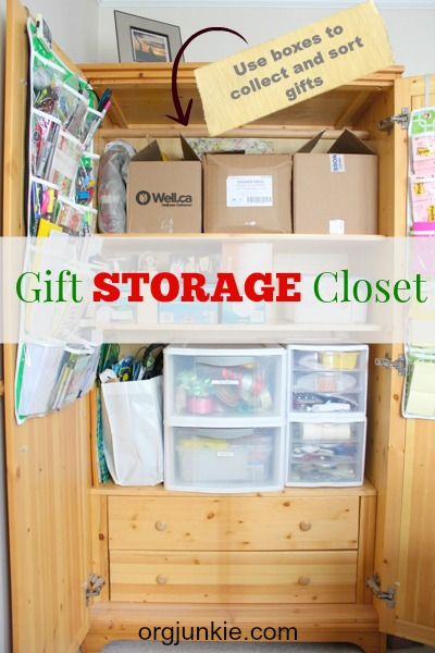 Organized for Christmas: Gift Storage Armoire