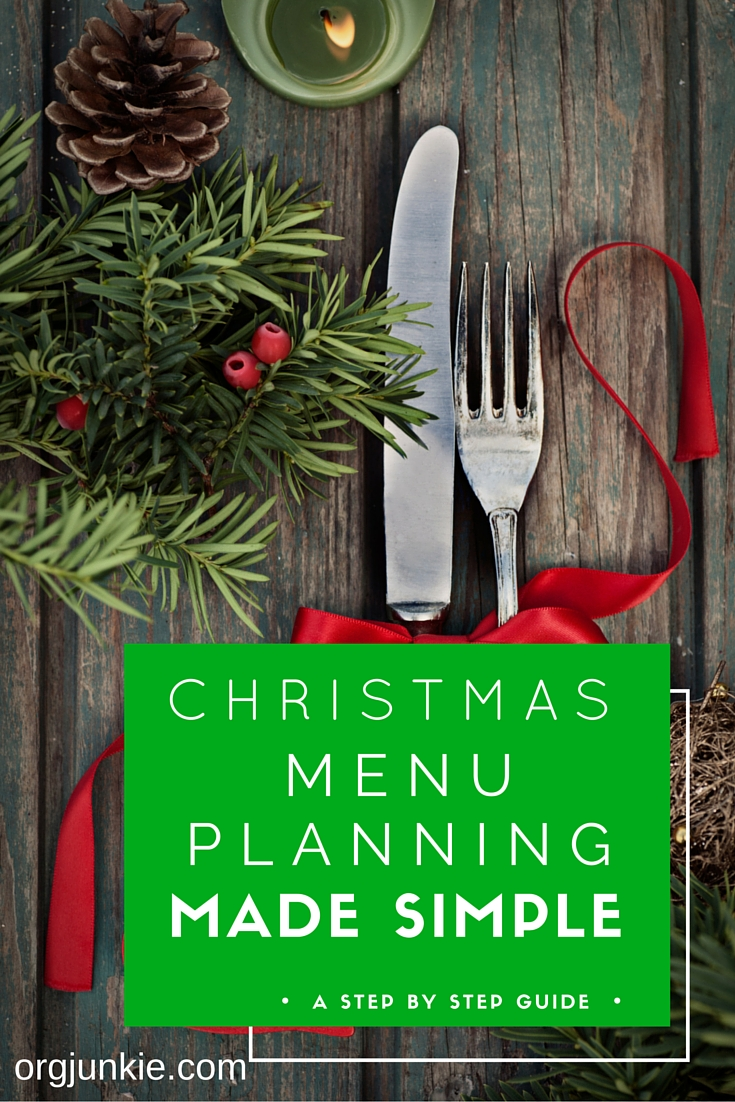 christmas menu planning made simple at im an organizing junkie blog - Simple Christmas Menu