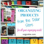 Top Dollar Store Organizing Products