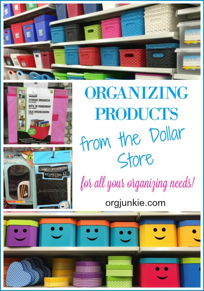 Organizing Products from the Dollar Store for all your organizing needs!