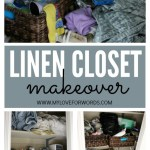 Another Organized Linen Closet Makeover