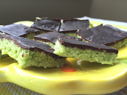 Coconut and Avocado Grasshopper Bars
