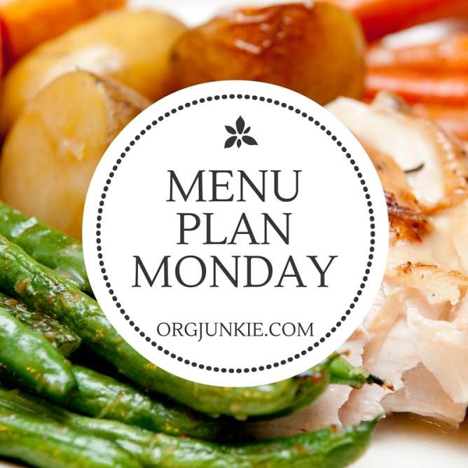 Menu Plan Monday for the week of April 18/16 - recipe links and menu planning inspiration to help you get dinner on the table with less stress!