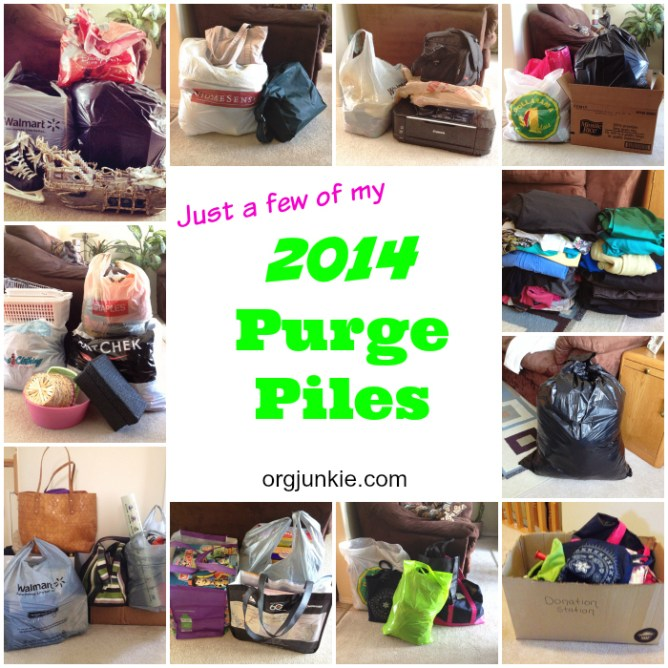 My 2014 Purge Piles - how to declutter like a pro