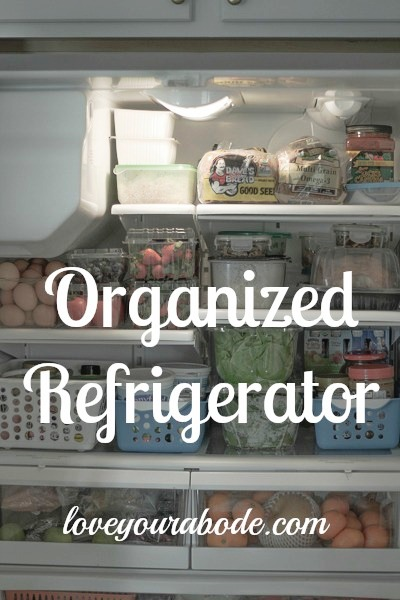 A Quick & Easy Tip for an Organized Refrigerator at I'm an Organizing Junkie blog