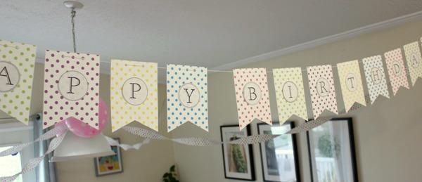 polka dot birthday banner 1