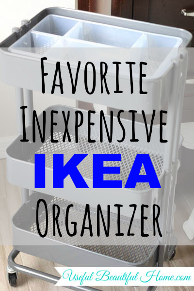 Favorite Inexpensive Ikea Organizer at I'm an Organizing Junkie blog