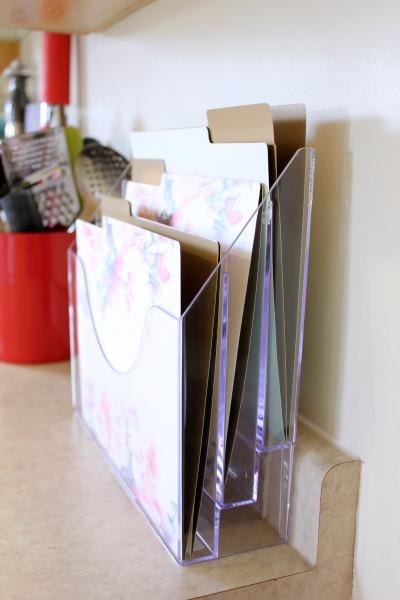acrylic paper organizer 1