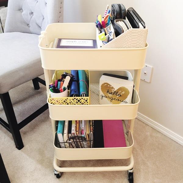 Ikea Raskog Cart as a mobile office