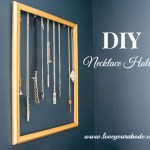 Easy DIY Necklace Holder