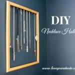 Easy DIY Necklace Holder