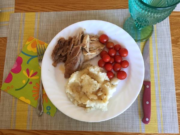 Easter dinner at I'm an Organizing Junkie blog