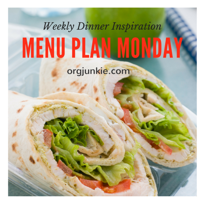 Menu Plan Monday for the week of July 3/17 - weekly dinner inspiration to help you get dinner on the table without stress and chaos