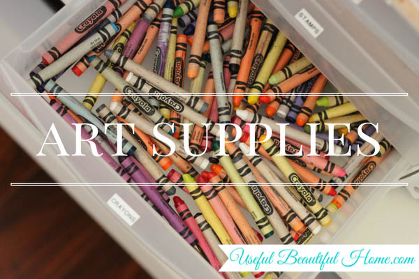 7 kids zones for spring cleaning - art supplies