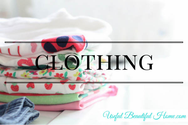 7 kids zones for spring cleaning - clothing