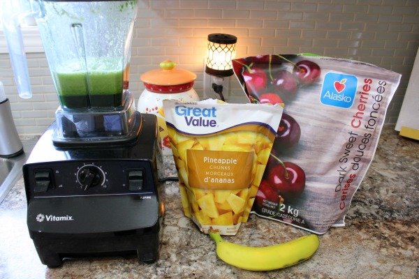 Dairy-Free & Delicious Cherry Pineapple Green Smoothie recipe at I'm an Organizing Junkie
