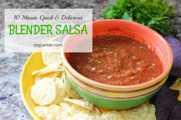 Homemade blender salsa