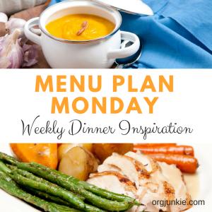 Menu Plan Monday ~ October 30/17 Weekly Dinner Inspiration