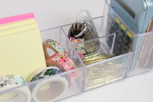 3 Different Ways to Organize Using a $3 Acrylic Organizer at I'm an Organizing Junkie blog