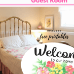 15 Essentials for a Really Cozy Guest Room & Free Welcome Printables