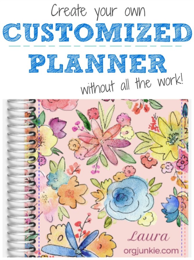 Create your own customized planner without all the work for Design my own planner