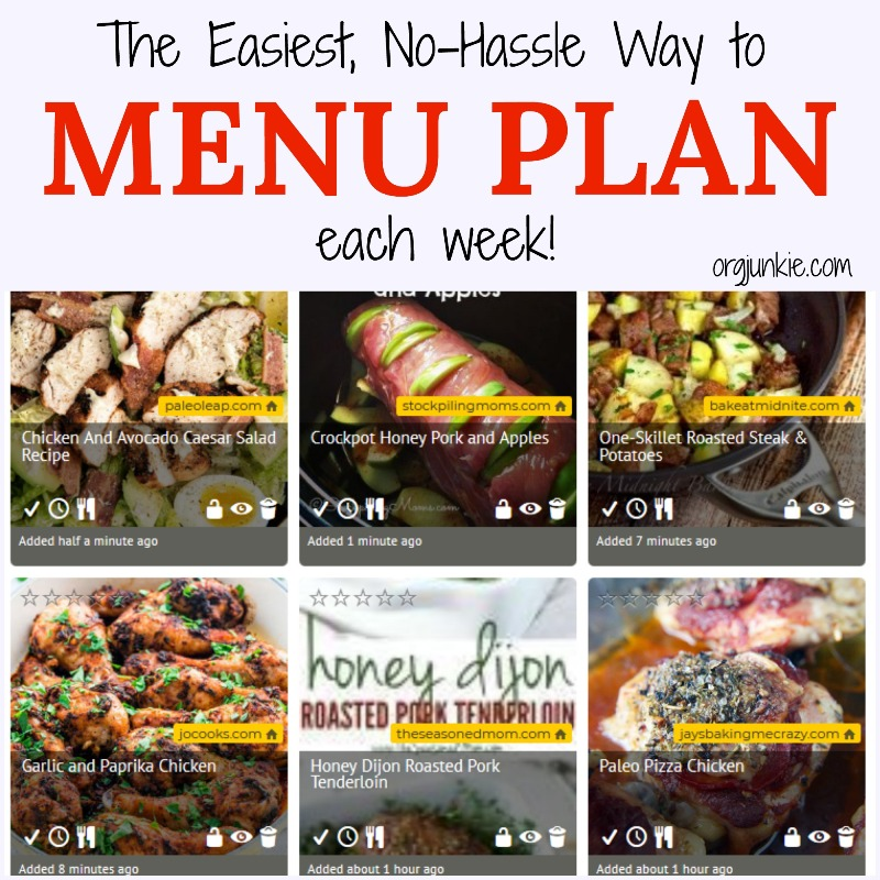 The Easiest No Hassle Way to Menu Plan each week - Black Friday weekend sale