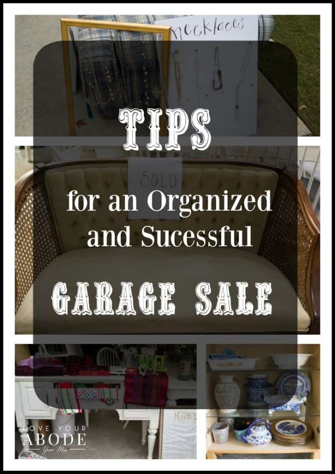 8 Tips for an Organized and Successful Garage Sale at I'm an Organizing Junkie blog