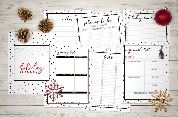 Christmas Planner Printables Free.2017 Free Holiday Planner 27 Printables For An Organized