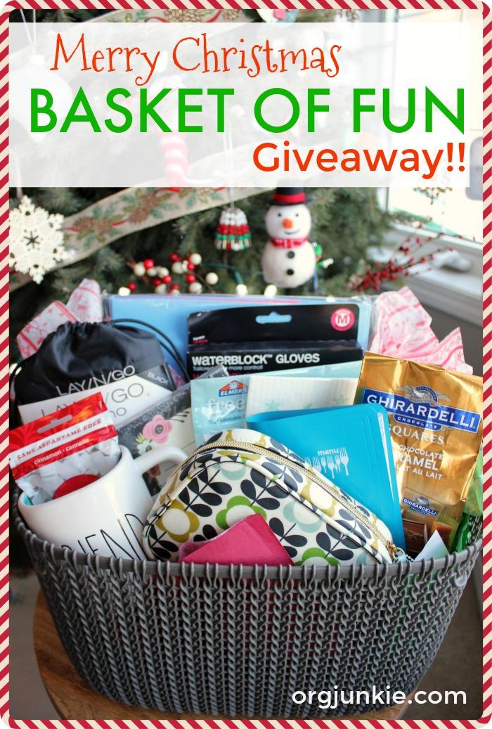 Merry Christmas Basket of Fun Giveaway!
