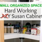 Small Organized Spaces ~ Lazy Susan Cabinet for Spices