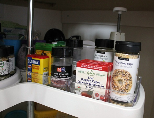 lazy susan cabinet spices