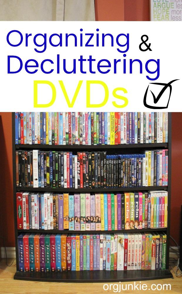 Decluttering DVD's