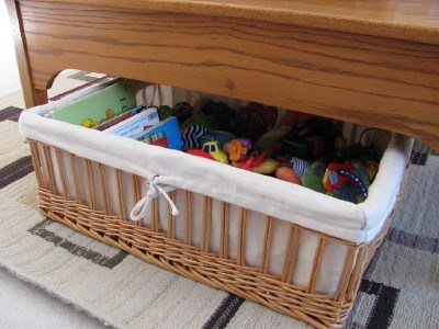 coffee table basket toys