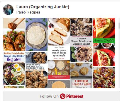 Pinterest board - paleo recipes