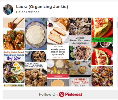 Pinterest board - paleo recipes