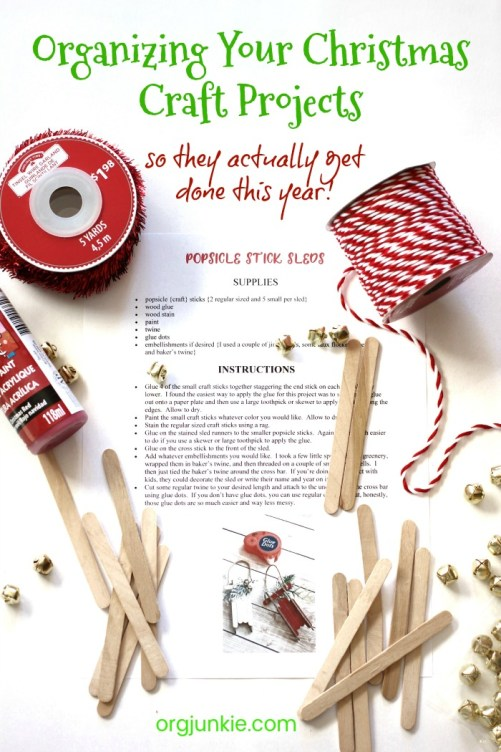 Organizing Your Christmas Craft Projects so they actually get done this year!